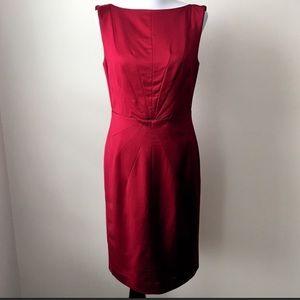 Banana Republic Starbust Satin Red Dress